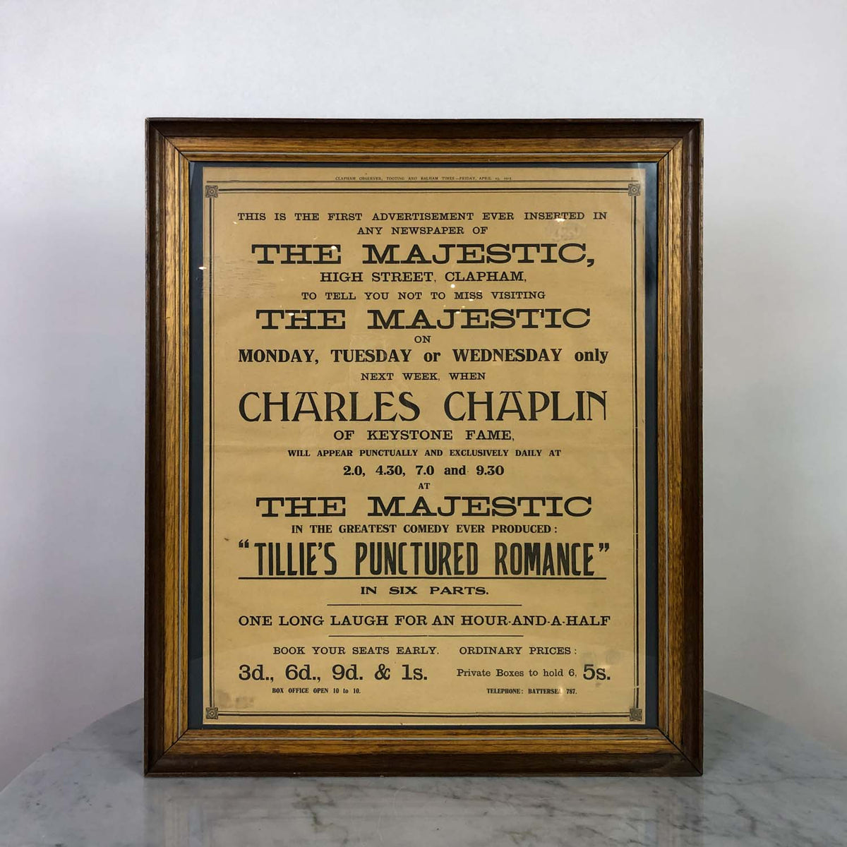 Original Charlie Chaplin Advertisement