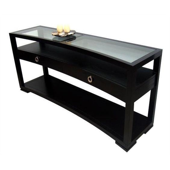 Bowed Console Table