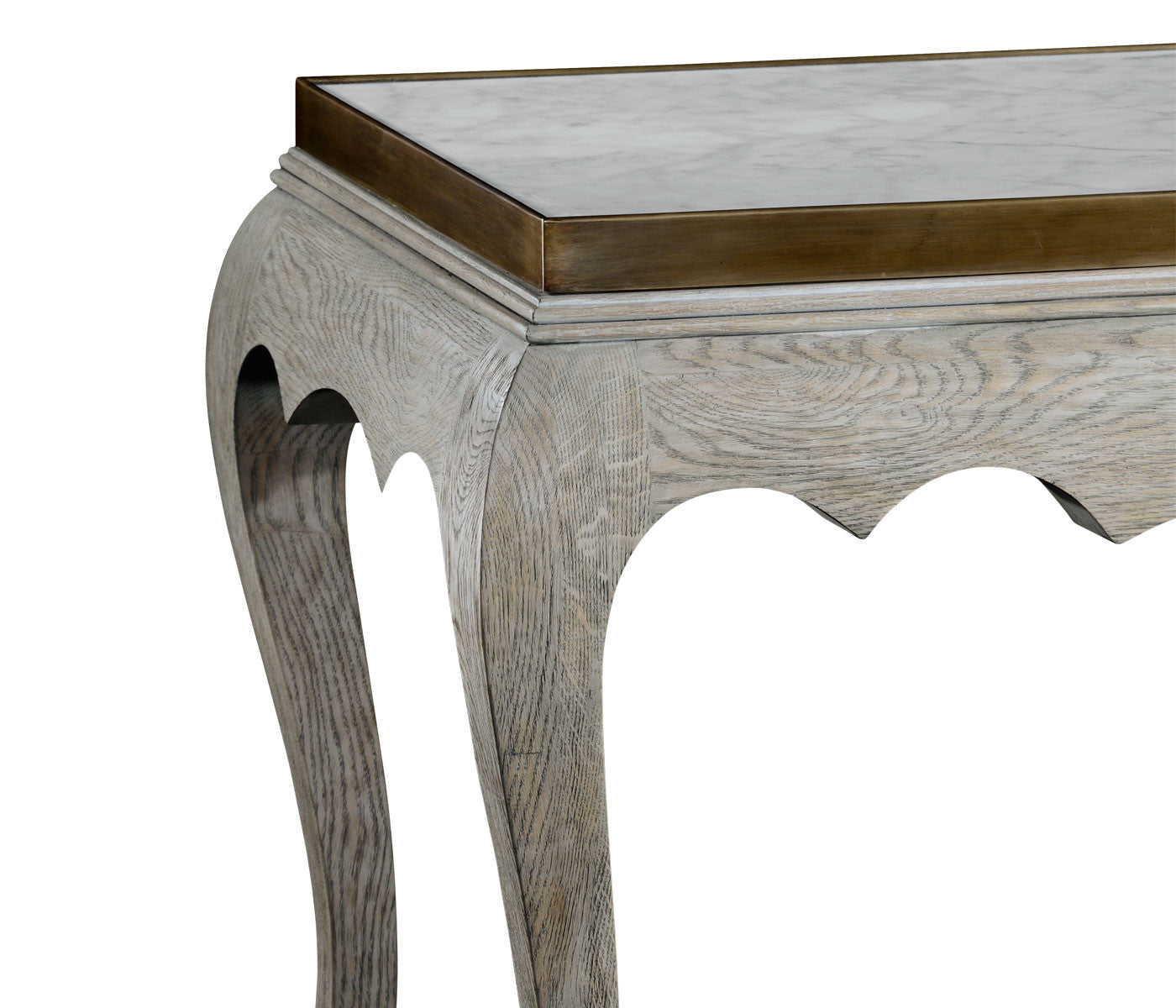 Washed Cabriole Console