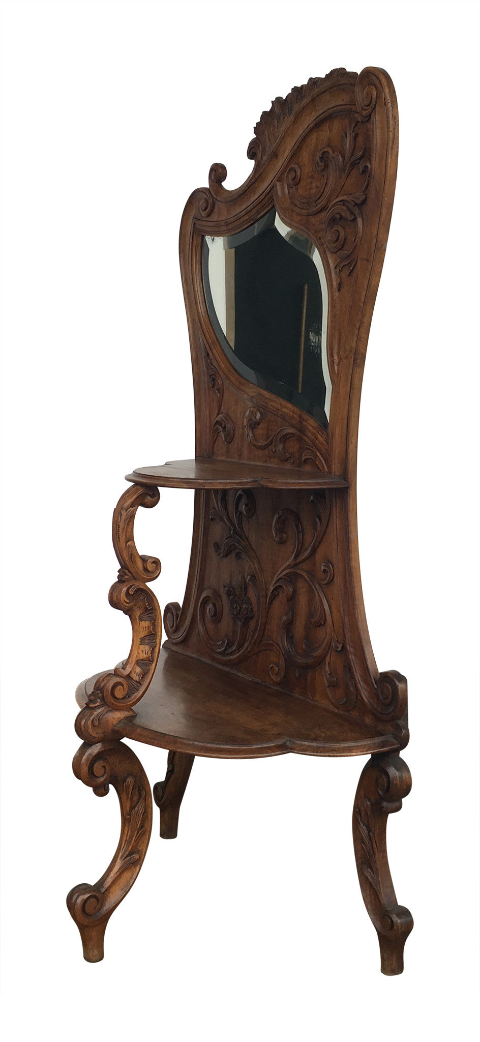 Unusual Walnut Etagere