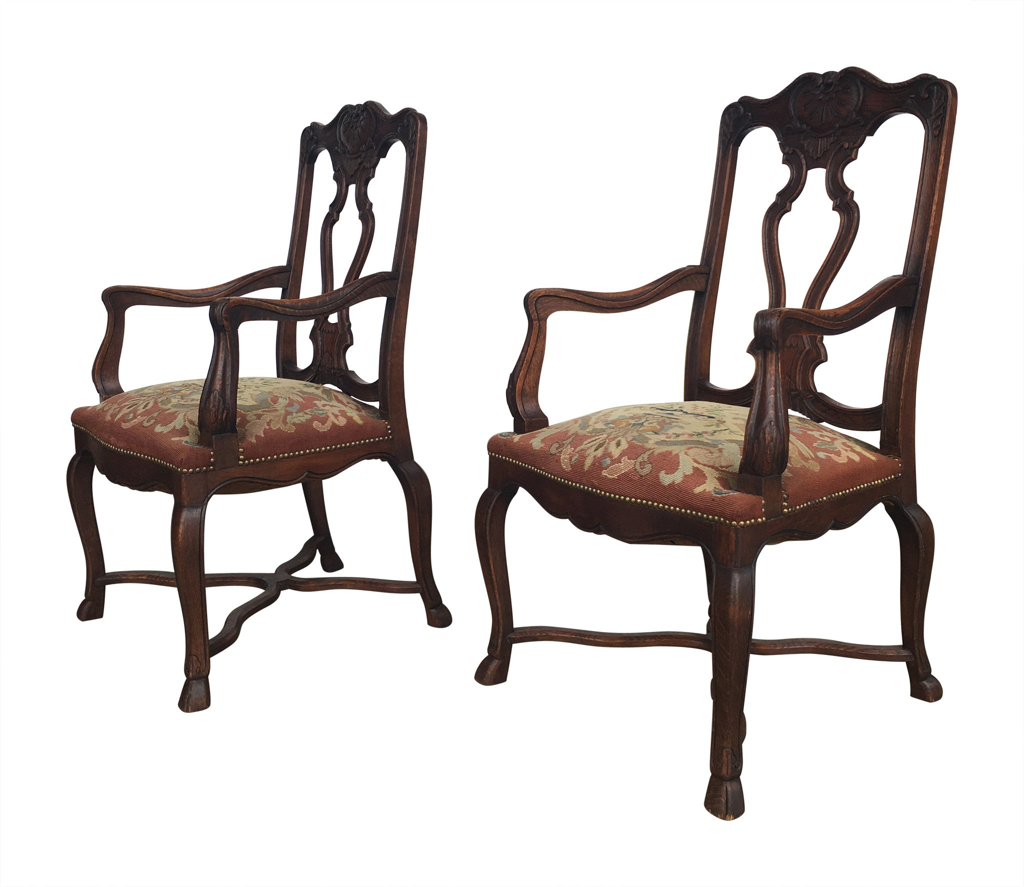 Pair of Needlepoint Armchairs