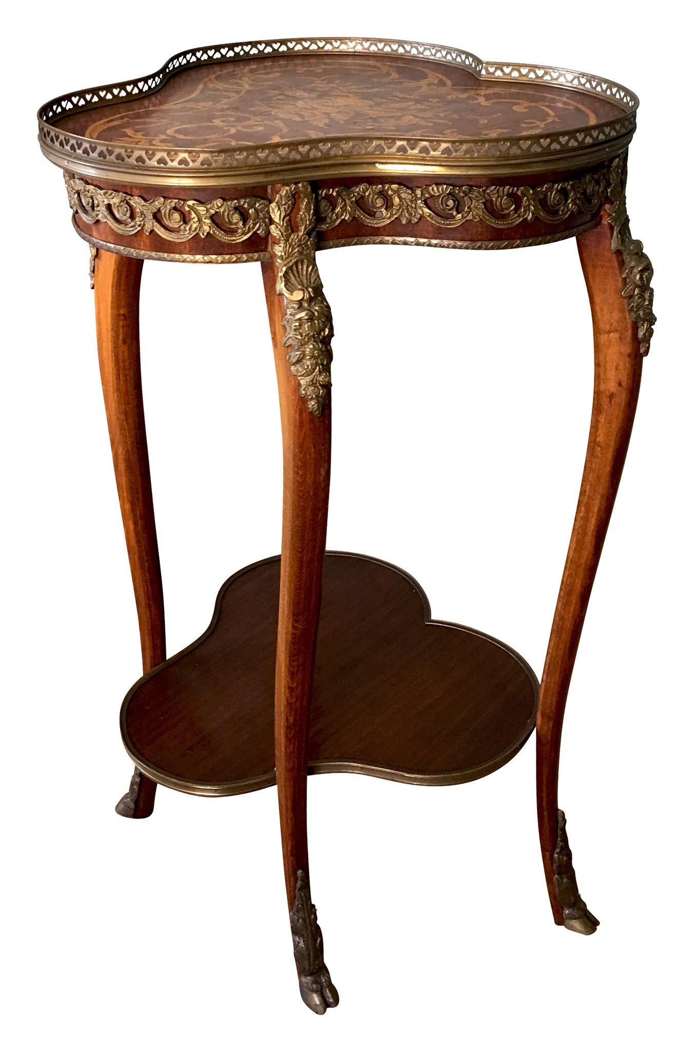 Exceptional Antique French Side Inlaid Side Table