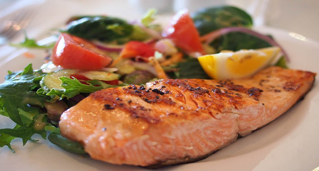 Healthy Cholesterol with Salmon