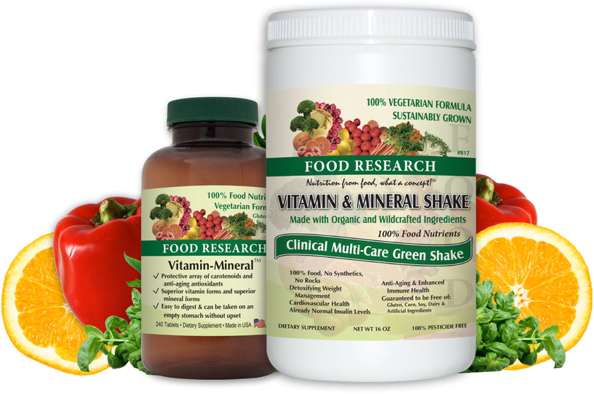100% Whole Food Supplements, Vitamins & Minerals | Buy Food Research