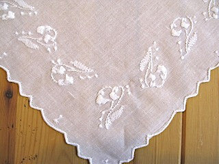 Handkerchief with Lily of the Valley Embroidery