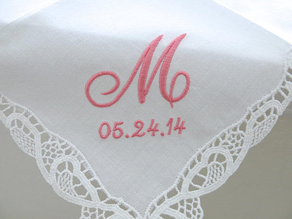 Handkerchiefs with 1-Initial and Date