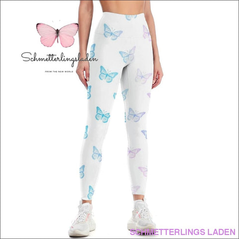 BLAUER SCHMETTERLING YOGA LEGGINGS | Schmetterlingsladen