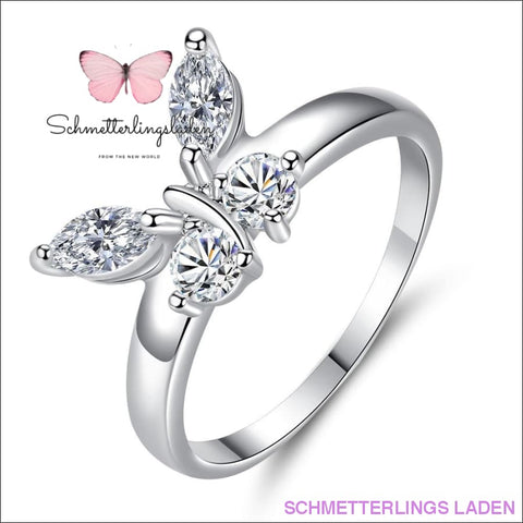 "SCHMETTERLINGS RING "" WEISSGOLD FABE & DIAMANTEN ´´ 