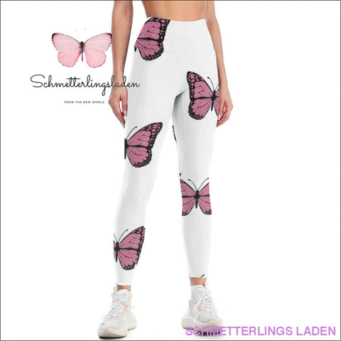 WEISSER SCHMETTERLING LEGGINGS | Schmetterlingsladen