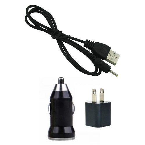 USB Travel Charger, USB Car Charger, USB Cable for TomTom Go 500, Go 510, Go Rider ONE