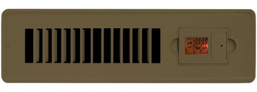 2 Pack - Vent-Miser 91663-BR Programmable Energy Saving Vent, 12-by-2-Inches, Brown