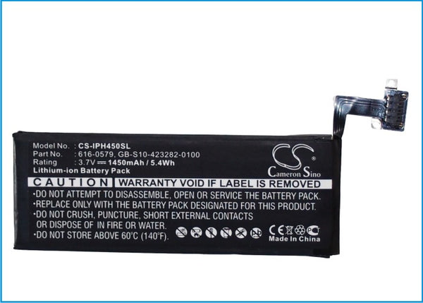 1450mAh Li-Polymer 616-0579 Battery Apple iPhone 4S 64GB