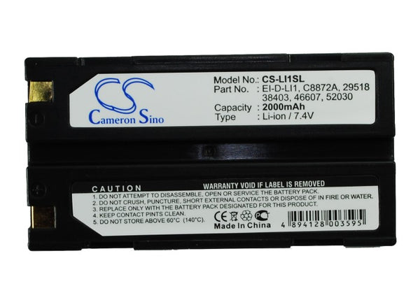 Replacement EI-D-LI1 Battery for KYOCERA Finecam S3R