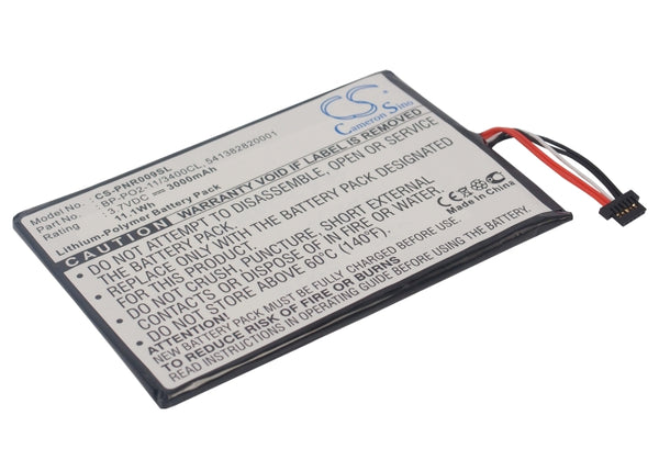 Replacement BP-PO2-11/3400CL Battery for Pandigital Supernova DLX 8, Supernova DLX8