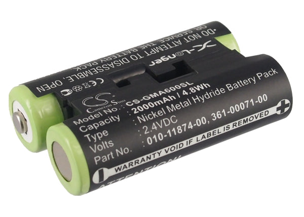 2000mAh 010-11874-00, 361-00071-00 Battery for Garmin Astro 320, Astro 430 handheld, Striker 4 Fishfinder