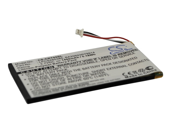 Battery for Creative Zen Vision M ( 30GB ) (P/N LPCS285385, BA20603R79914)