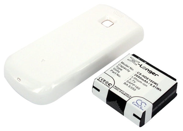 2680mAh High Capacity Battery with white cover for T-Mobile MyTouch 3G