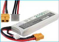 Battery for Remote Helicopter (Discharge Plug: XT60 Yellow Connector, Charge Plug: JST-XH-2.54 AWG24)