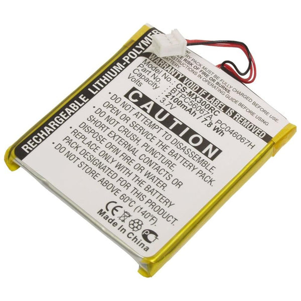 Replacement BTPC56067A Battery for MX-3000 Universal Remote Control