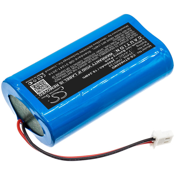 2600mAh 25458, OM0134 Battery for Surgitel Eclipse EHL65, EHL-65, Odyssey Analog