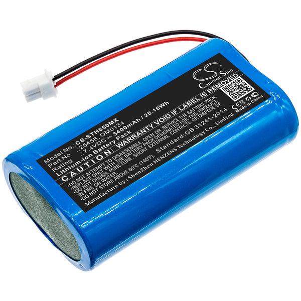 3400mAh 25458, OM0134 High Capacity Battery for Surgitel Eclipse EHL65, EHL-65, Odyssey Analog