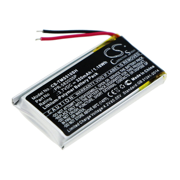 320mAh PR-582035P Battery for TomTom Spark 510