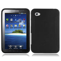 Black Rubber TPU Case + 3 Pack Screen Protector for Samsung Galaxy Tab