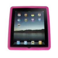 Pink Silicone Case + 3 Pack Screen Protector for Apple iPad 1st Gen