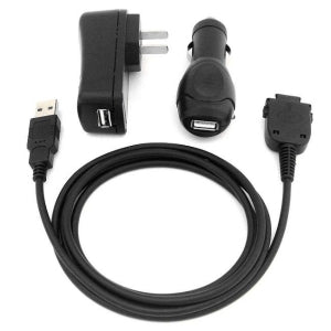 USB Home Charger, USB Car Charger, USB Cable for HP iPAQ rx3000 rx3115 rx3400 rx3710 rx3715