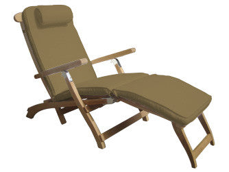 Teak Steamer Chair   Bronze Cushion