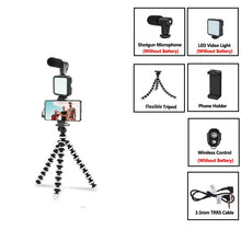 Load image into Gallery viewer, Tripod attachment for phone with light