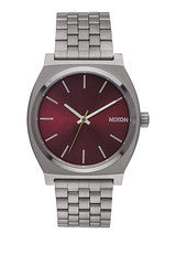 Time Teller Gun Metal/Deep Burgandy