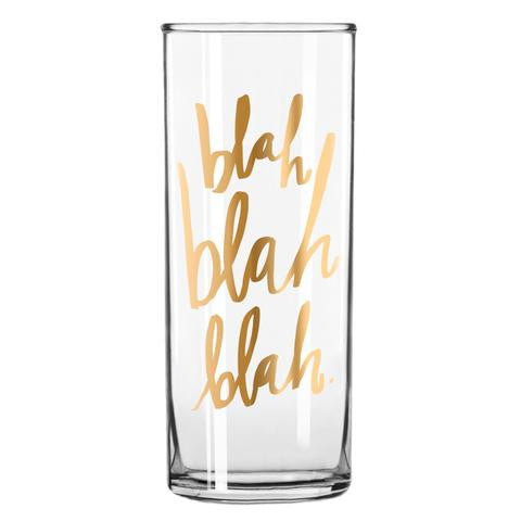 Blah Blah Blah Cocktail Glass - Dbl