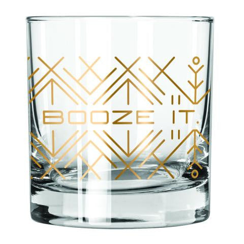 Booze It Lowball Glass - 2pk