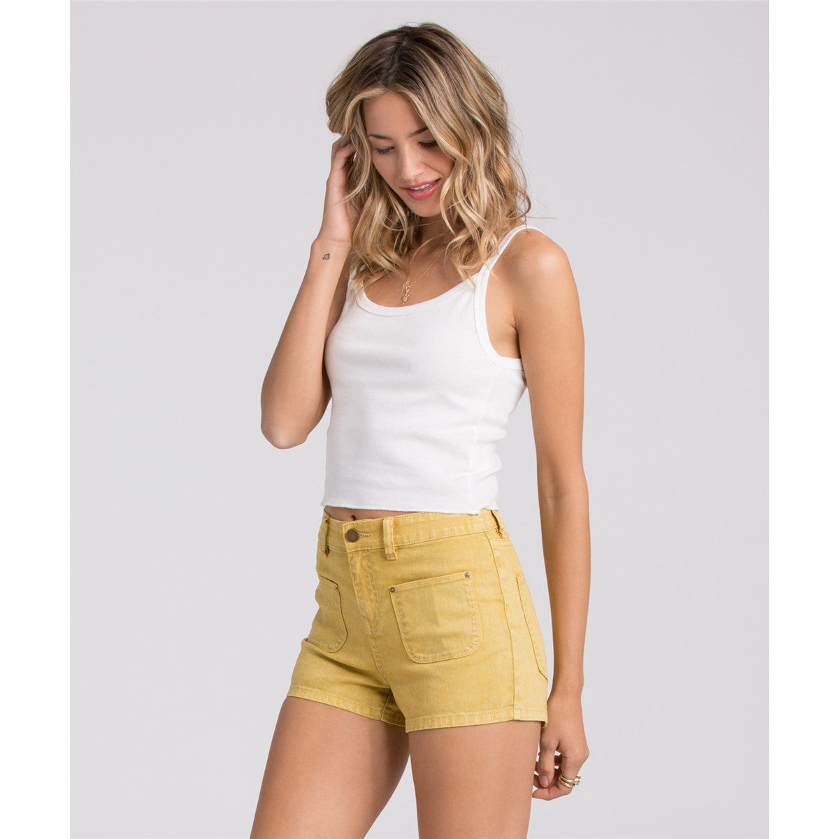 Billabong That 70s Memory Denim Shorts