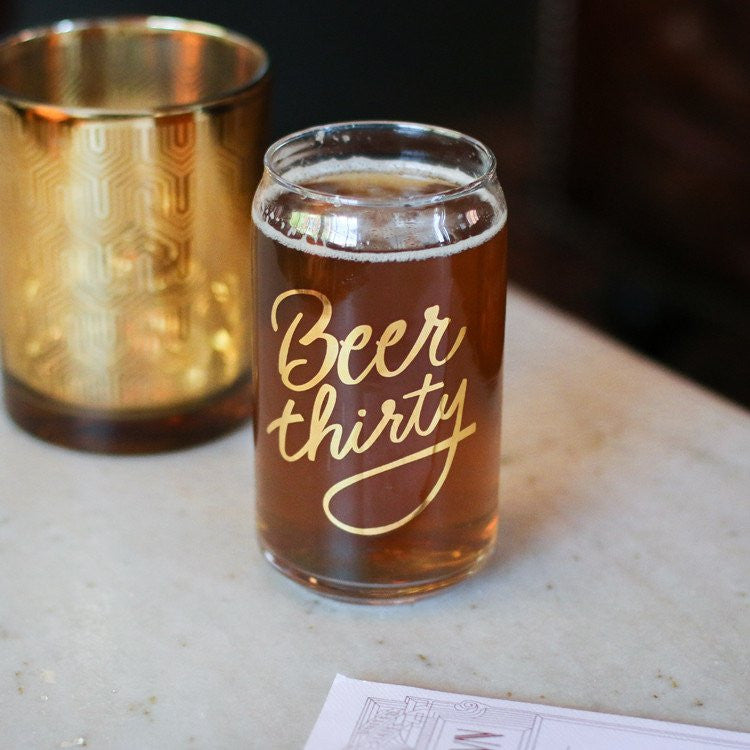 Beer thirty Beer Can Glass - single