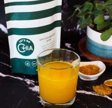 Load image into Gallery viewer, Let's Go Chia Anti-Inflammatory Blend mixed in water