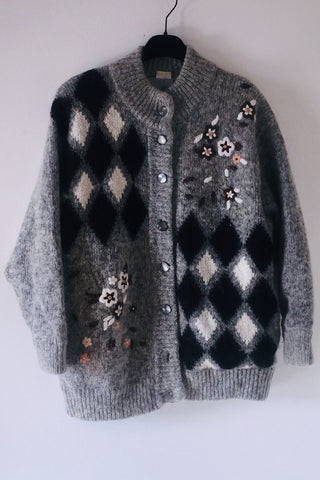 Over size Knit cardigan