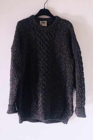 Oversize cable knit