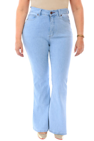 360 Stretch High Rise Flea Market Flare Jeans
