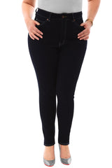 360 Stretch High Rise Ultra Skinny Denim Jeans (Jeggings) in Black Onyx