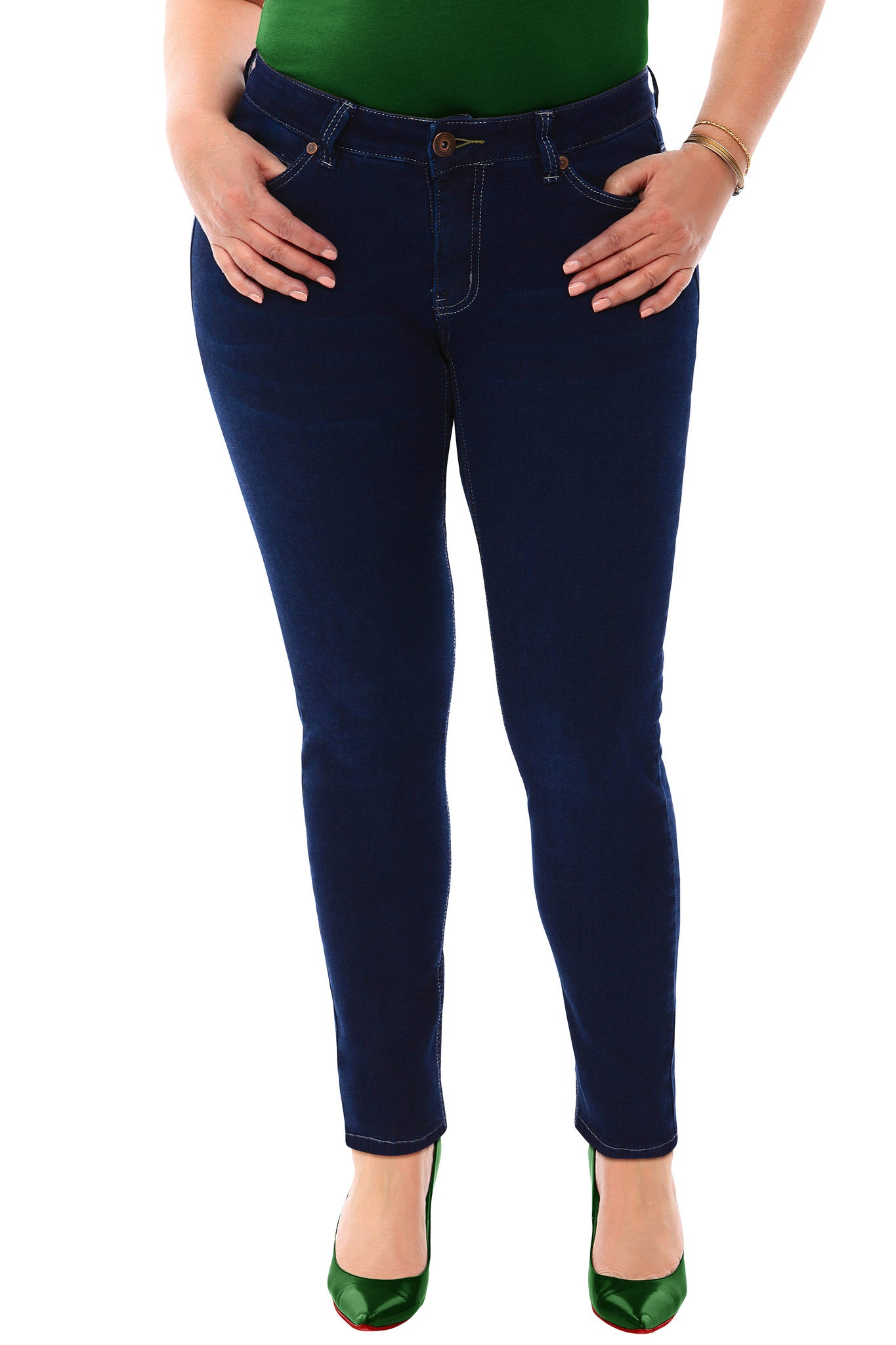 4400a2105ff 360 Stretch Mid Rise Ultra Skinny Denim Jeans (Jeggings) in Blue Depth -  SVOBODA