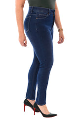 360 Stretch High Rise Ultra Skinny Denim Jeans (Jeggings) in Blue Depths