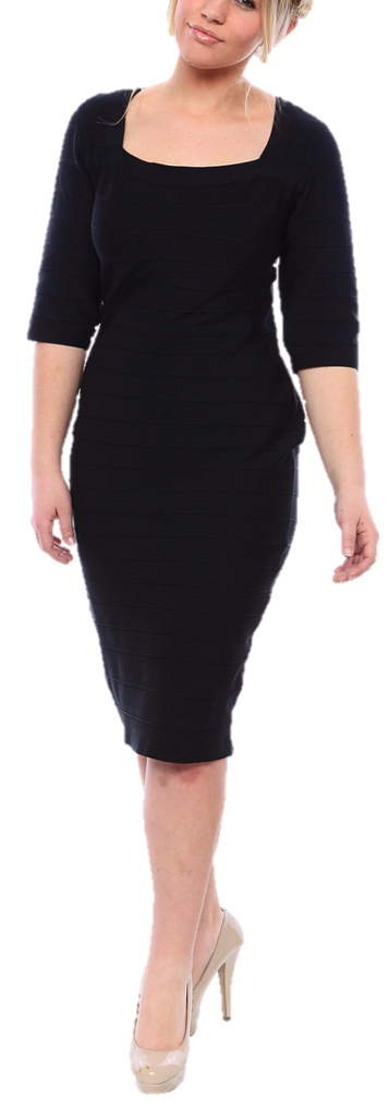 Sexy Plus Size Bandage Dress For Curvy Women In Black Or Red Svoboda