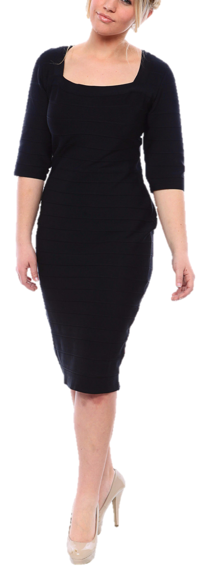 Sexy Plus Size Bandage Dress in Black or Red