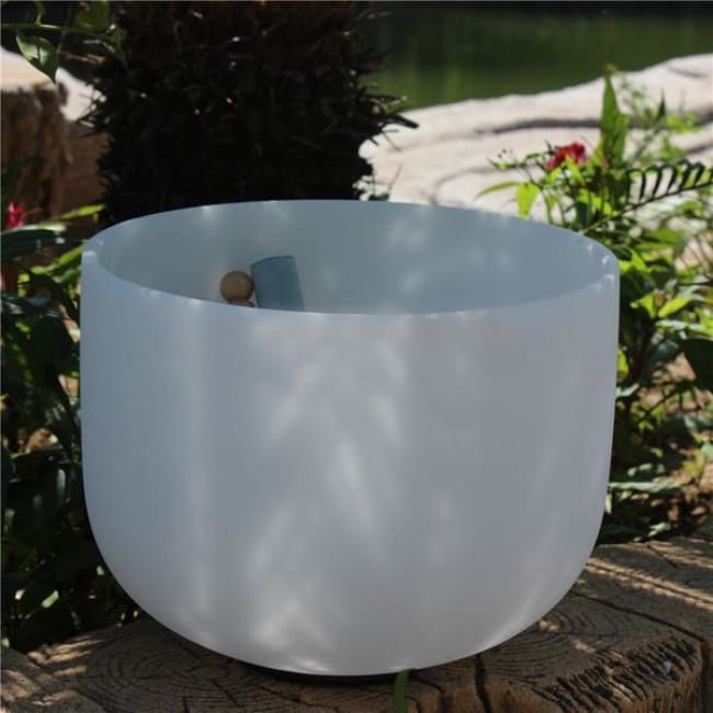 10 Frosted Pure Quartz Crystal Chakra Tuned Singing Bowls