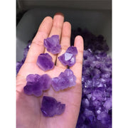 6 Pcs Rough Purple Fluorite Clusters