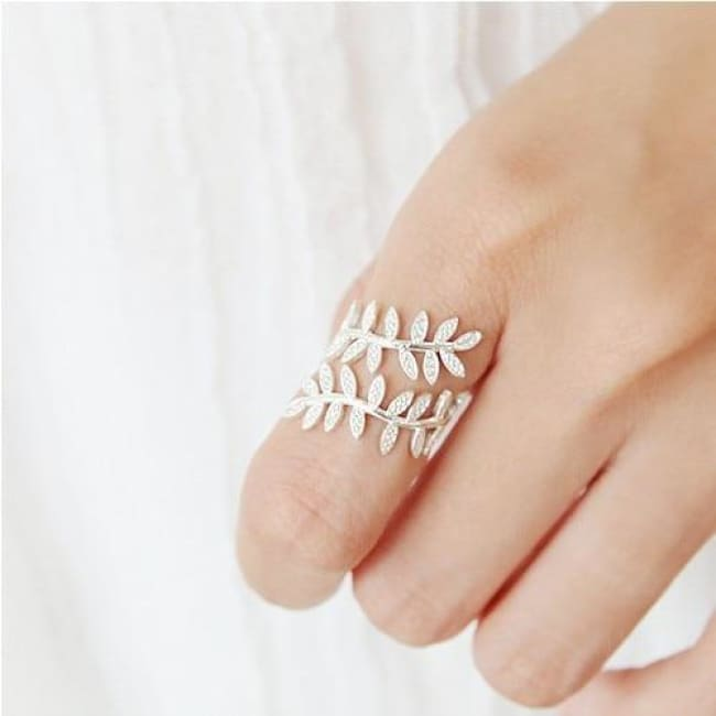 925 Silver Elvish Leaf Adjustable Fairytale Ring