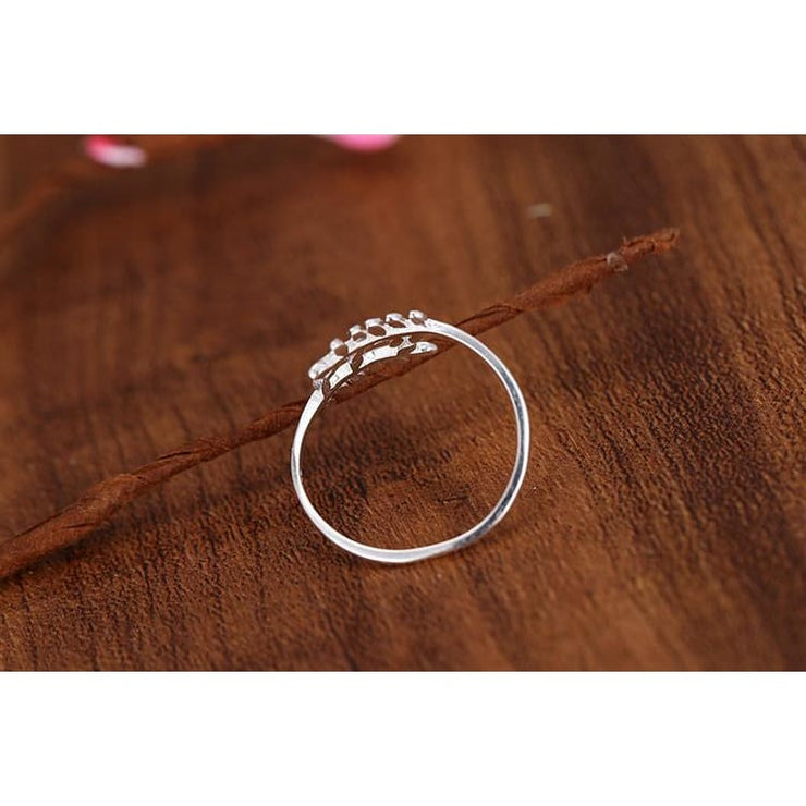 925 Silver Laurel Fairytale Adjustable Ring