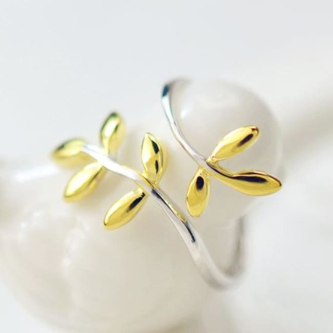 925 Silver Olive Branch Fairytale Adjustable Ring